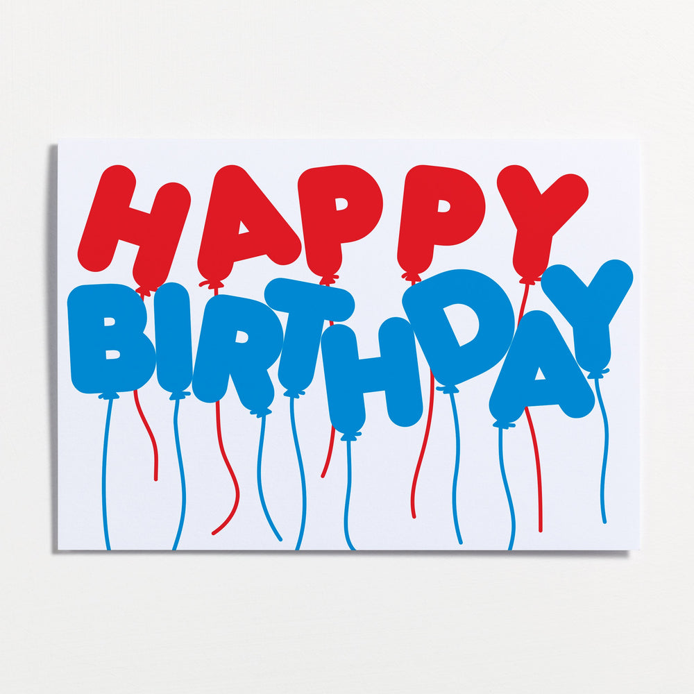 Birthday Balloons - Greetings Card - Turner Contemporary Shop