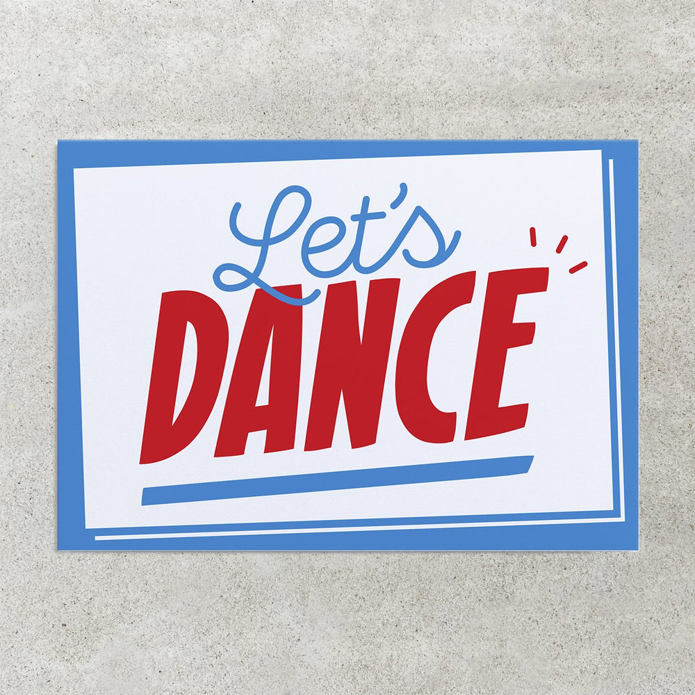 Let's Dance Greetings Card