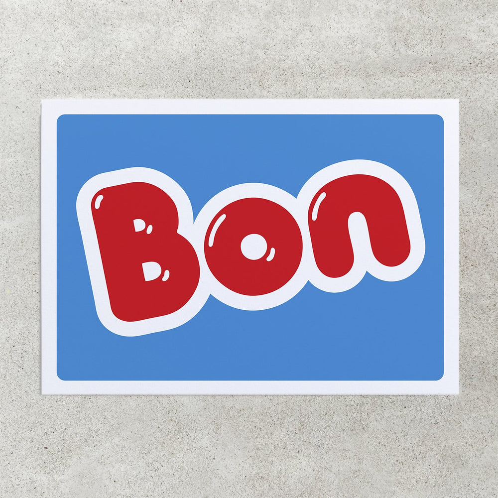 Bon Greetings Card