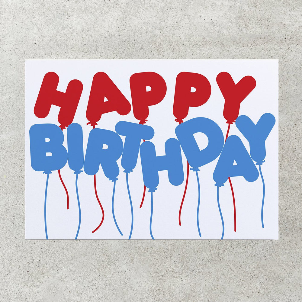 Birthday Balloons - Greetings Card