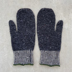 Kate Jones - Shingle Wool Mittens - Charcoal
