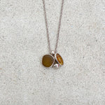 Sea Glass Necklace - Amber Cluster