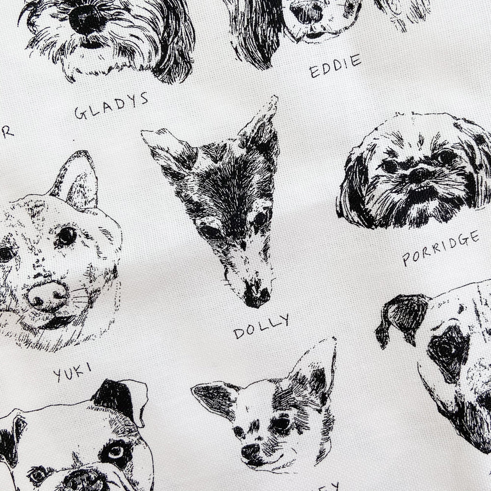 My Friends' Dogs And A Cat Named Squirrel - Tea Towel by Kavel Rafferty
