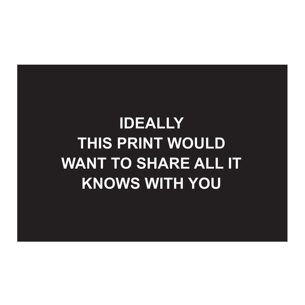 Laure Prouvost - Ideally this print would want to share all it knows with you