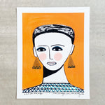 Girl in Orange - Margo in Margate - 40 x 50 Print