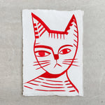 Red Cat A4 - Margo in Margate - A4 Original