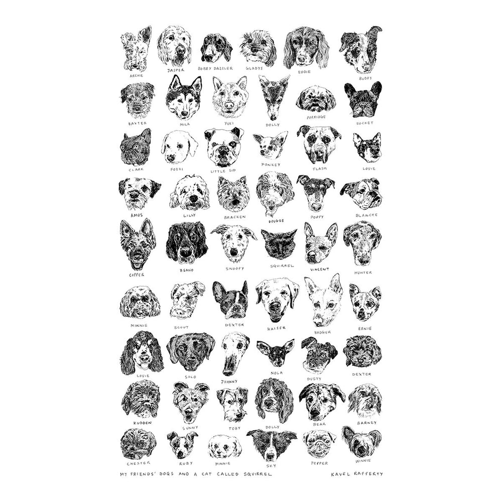Dogs Tea Towel - Kavel Rafferty