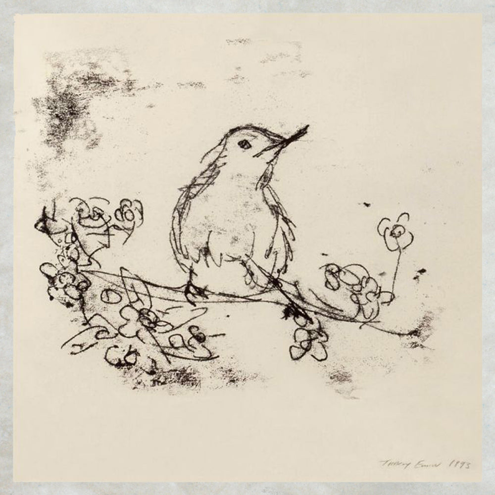 Tracey Emin Greetings Card - Bird Drawing