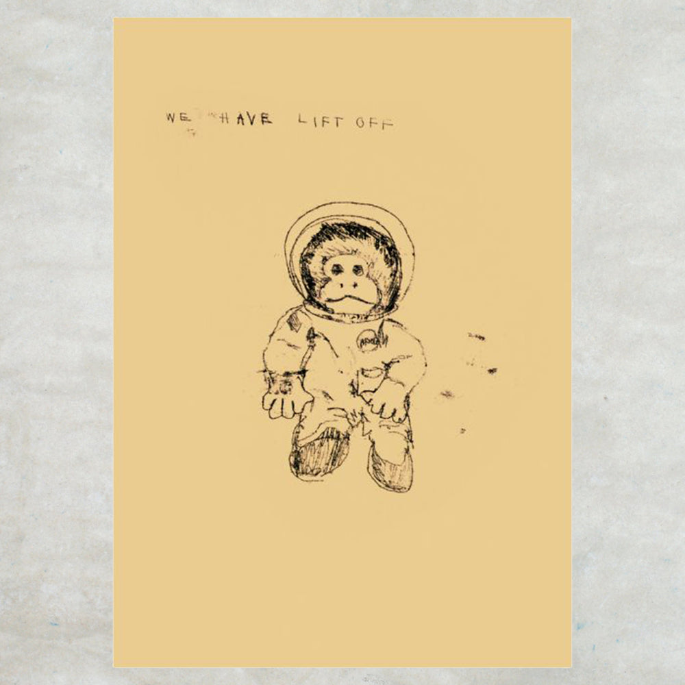 Tracey Emin Greetings Card - Some People Have Children (Space Monkey)