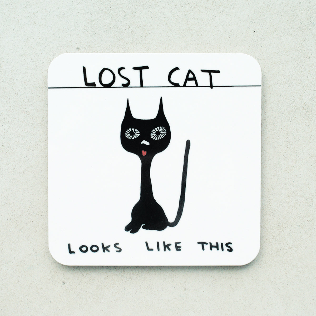 David Shrigley - Lost Cat Coaster - Turner Contemporary Shop