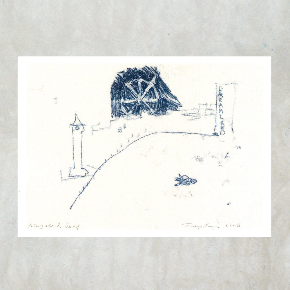 Tracey Emin Postcard - Margate 1 Sand - Turner Contemporary Shop
