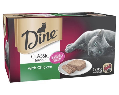 Dine Classic Terrine Chicken Cat Wet Food Trays - Pikabu