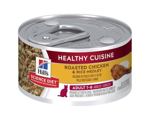 Hills Science Diet Adult Healthy Cuisine Roast Chicken And Rice Medley Cat Wet Food Cans - Pikabu