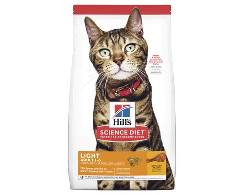 Hills Science Diet Adult Light Chicken Dry Cat Food - Pikabu