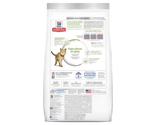 Hills Science Diet Senior 7+ Youthful Vitality Chicken Rice Dry Cat Food - Pikabu