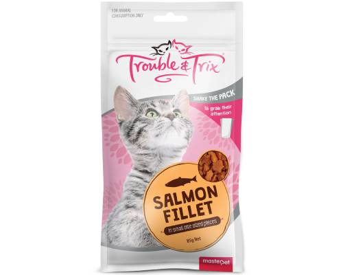 Trouble And Trix Salmon Fillet Cat Treats - Pikabu