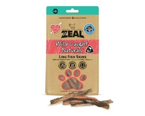Zeal Free Range Naturals Ling Fish Skins Dog Treats - Pikabu