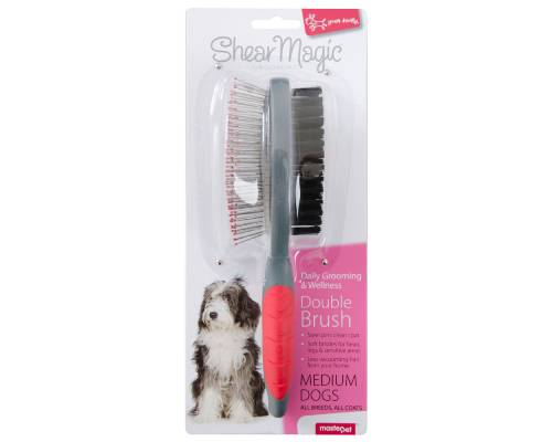 Yours Droolly Shear Double Dog Brush - Pikabu