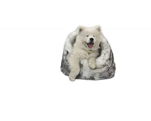 TS Lux Fur Arctic Igloo Pet Bed - Pikabu