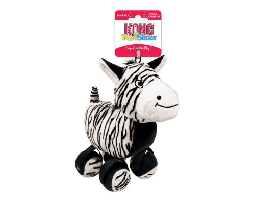 Kong Tennishoes Zebra Dog Toy - Pikabu