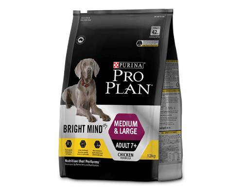 Pro Plan Bright Mind Adult 7+ Medium And Large  Dry Dog Food - Pikabu