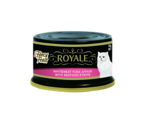 Fancy Feast Royale Whitemeat Tuna Affair With Seafood Strips Cat Wet Food Cans - Pikabu