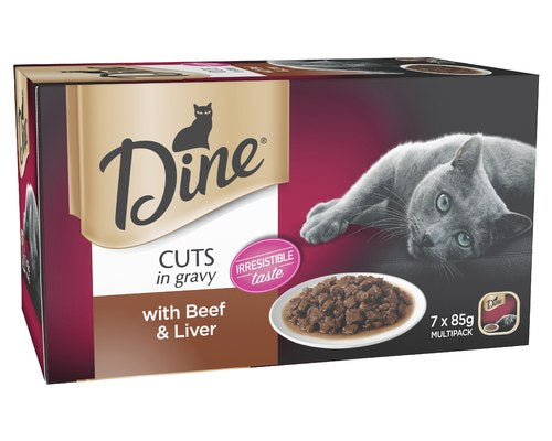 Dine Beef And Liver In Gravy Cat Wet Food Trays - Pikabu