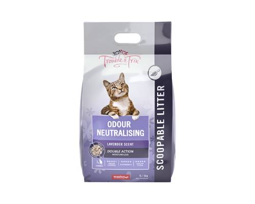 Trouble And Trix Odour Neutrilising Anti-Bacterial Lavendar Crystal Litter - Pikabu