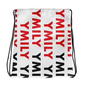 Red/Black Logo Drawstring Bag