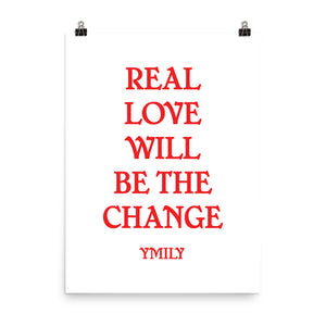 Real Love Red/White Poster