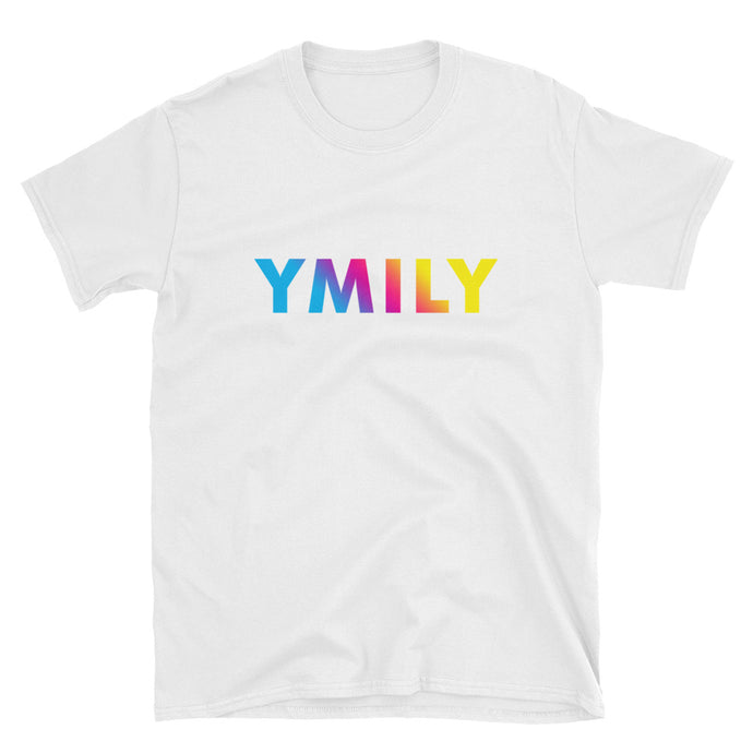 Cyan/Magenta/Yellow Gradient Logo T-Shirt