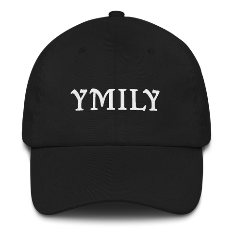YMILY White Logo Dad Hat