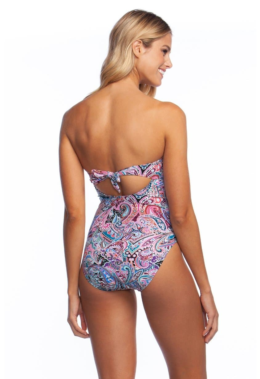 f12418e20b68 Swirlin Around Bandeau One Piece – LA BLANCA