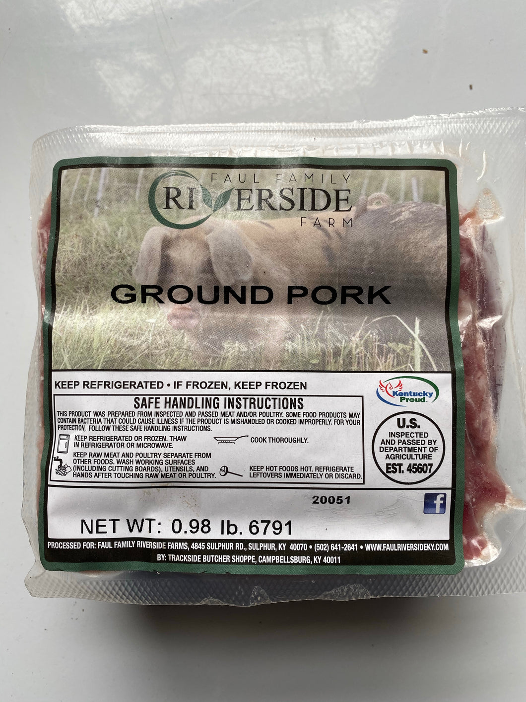 Pasture-raised Ground Pork