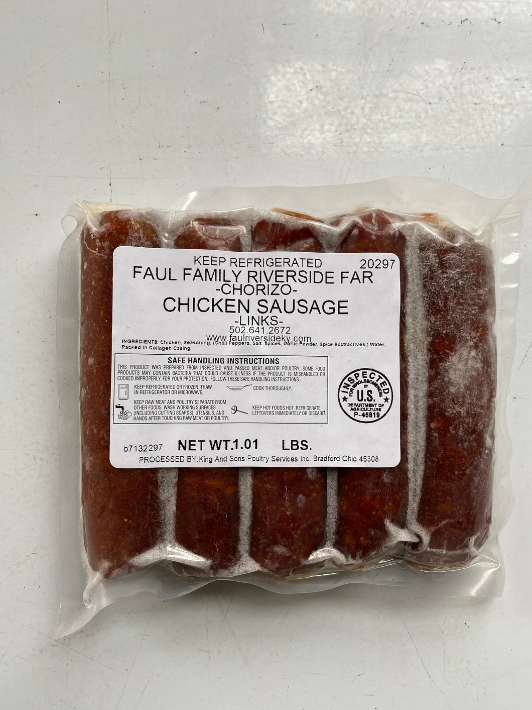 Pasture-Raised Chicken Chorizo Sausage Links