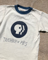 PBS X TRASHBOY TEE, KIDS LARGE