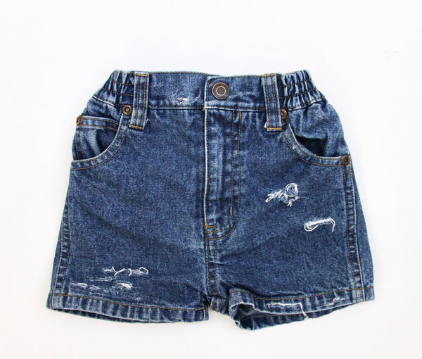 Frayed Denim Shorts, 9 months