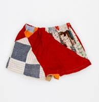 Quilt Top Play Shorts, 3/4T