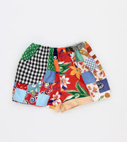 Gingham + Quilt top Play Shorts, Kids 5/6