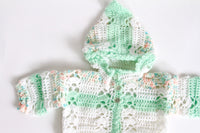 Mint Green Knit Baby Hoodie, 3-6 months