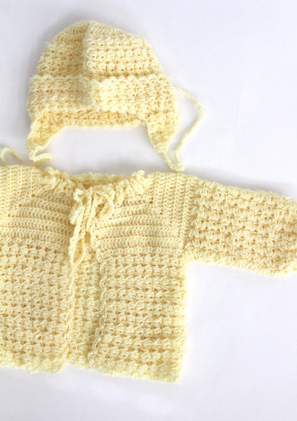 Yellow Knit Baby Sweater, 6 months