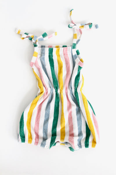 Striped Terry Romper, 12-18 months