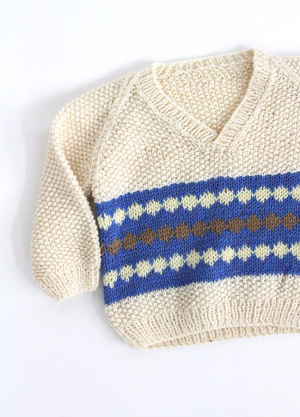 Hand Knit Pullover, 0-6 months