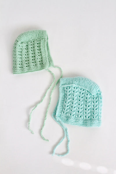 Knit Bonnet Bundle, 0-3 months