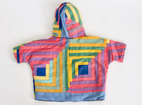 Quilt top Play Coat, Crop Sleeve Size 1-3 years