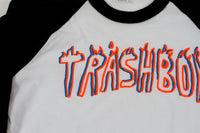 TRASHBOY TEE, KIDS BLACK RAGLAN