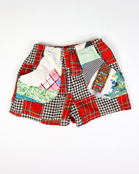 Gingham Patchwork Playshorts, Kids 3/4T