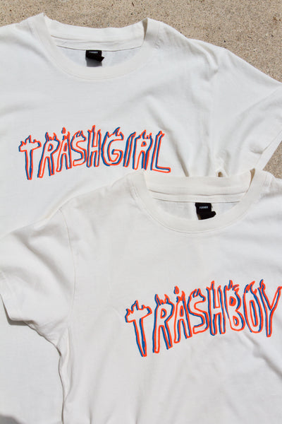 SUPER SOFT BONE WHITE TRASH TEE