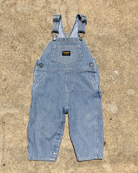 RAILROAD STRIPE BABY OVERALLS 18 MONTHS