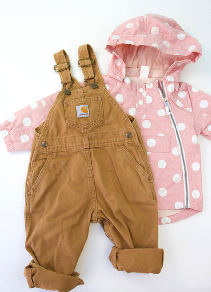 Carhartt and Polka dot bundle, 1-2T